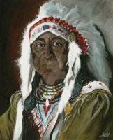 Native American Chief by Char10tte
