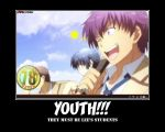 Angel Beats Youth Poster by mwto