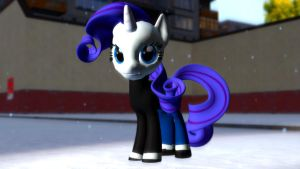 (HEX DL) Rarity in a sweater by Legoguy9875