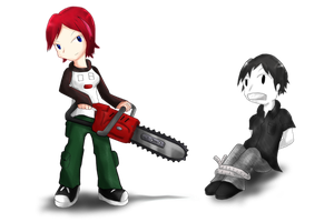 Becky's Chainsaw by Indie-Draws