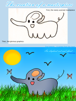 An Elephant Out and About by ffadicted