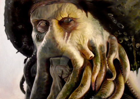 Davy Jones in Oil by FreedomSparrow3