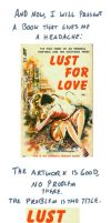Ugly Book Covers: Lust For Love by RomanJones