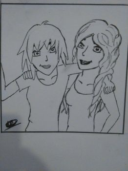 Candice and Mackenzie (outlining) by Nihal2000
