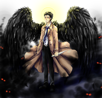 COMM: Castiel :Supernatural: by BlackMayo