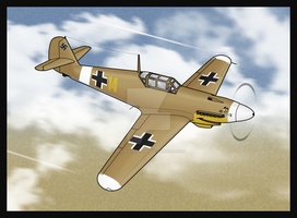Veronica Bf-109F-4 Trop by TheAngryFishbed