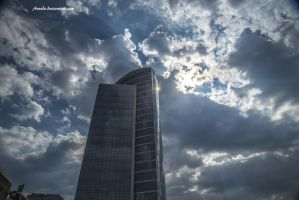 Sky and Tower by Aneede