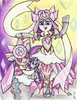 Fairy Legendary Ponymon: Rarity and Diancie by Matsuban