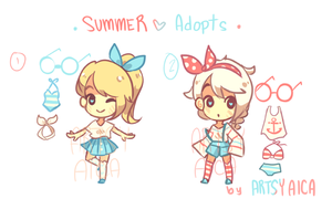 Summer Adoptables [OPEN] by ArtsyAica