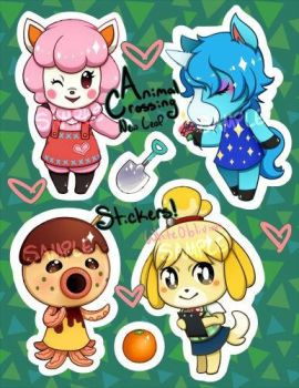 Animal Crossing Stickers by WhiteOblivion