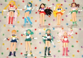 Sailor Moon toro figures by RakikoHime