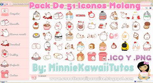 Pack De 51 Iconos Y Pngs Molang by MinnieKawaiiTutos