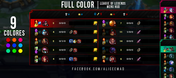 League of Legends Menu HUD - Full Color by AliceeMad