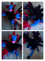 hydreigon plush by LRK-Creations