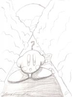 Kirby - Lost....Sketch by theunknown1