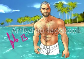 Sexy bear Surfwear by ArtByFab