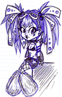 SKETCH. Cyber Chibi by syd-vicious29