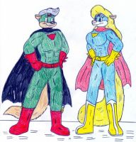 Mighty Mink and Mongoose by Jose-Ramiro