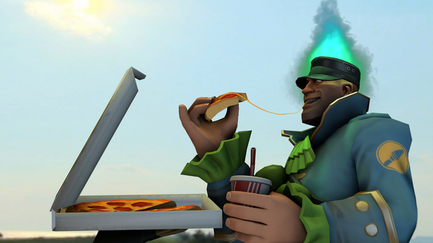 Conquered Pizza by Fioponator