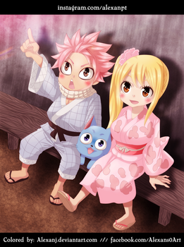 FT: Natsu, Lucy and Happy Chibi Festival by AlexanJ