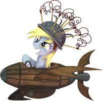 My Little Pony Derpy Flying Contraption by kaizerin