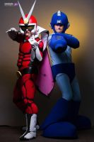 Viewtiful Joe and  Megaman battleready!!! by team----awesome