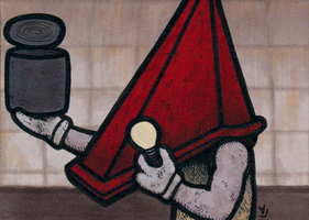 Pyramid Head - The Can of Light Bulbs by Yamallow