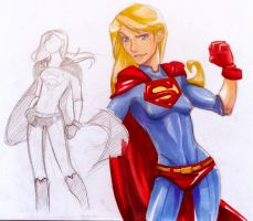 Supergirl sketch by vejiicakes