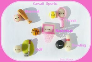 Kawaii Sports Earrings by Bojo-Bijoux
