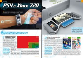 My xbox720 in magazine by 3DEricDesign
