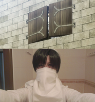 SnK: Levi cleaning cosplay 3 by themuffinshota