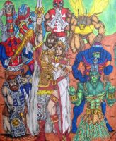 MOTU King Randor and his Court by Toe-Knee-Bee-Ears