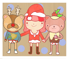 Christmas with Teddies and Crumb by Butterscones