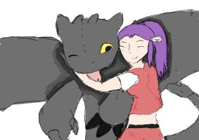 toothless and katalina by gaarafangirl77