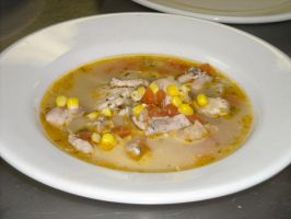 Chicken, Corn and Lime soup by FrogsRSexy