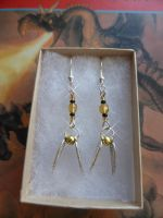Harry Potter Hufflepuff Golden Snitch Earrings by Carrie-AnneSevenfold