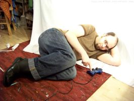 PS2 Guy Laying Down : 03 by taeliac-stock