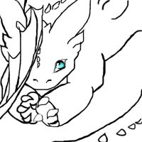 blue eyes toothless outline 2 by pltnXghost