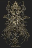 The tree of Sephiroth (gold) by saleign