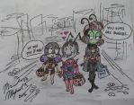 Trick or Treating with the Dweebs by PlanetSiam1995
