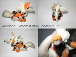 Arcanine Custom Button-Jointed Plush by audse