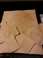 WIP Game of Thrones themed Leather Pieces by AlphaWolfVince