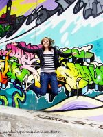 jump in front of the graffiti by SunshiinePrincess