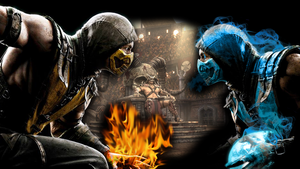 Mortal Kombat X Wallpaper Scorpion vs Sub Zero by PreSlice
