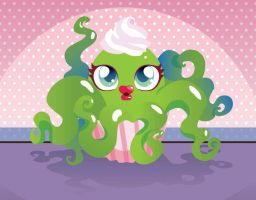 Cupcake Squid by hitomi--i