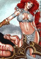 Red Sonja Sketch Puzzle 2 by Dr-Horrible