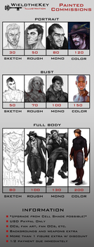 2014-2015 Painted Commission Prices by WieldstheKey
