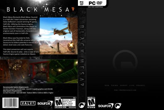 Black Mesa Source - Black Cover by JannoBuzzBazz