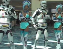 Space Sheriff Gavan and Blue Rose by trivto