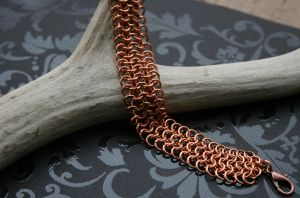 Chain Maille Bracelet by Firestorm-the-Poet